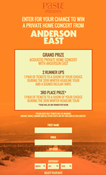 Win A Private Home Concert From Anderson East! - Atlantic Records